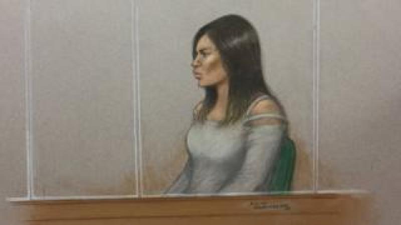Court sketch of Safaa Boular