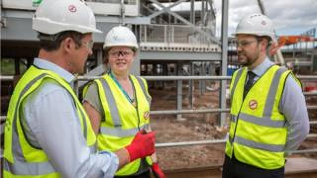 Interserve staff at a construction site