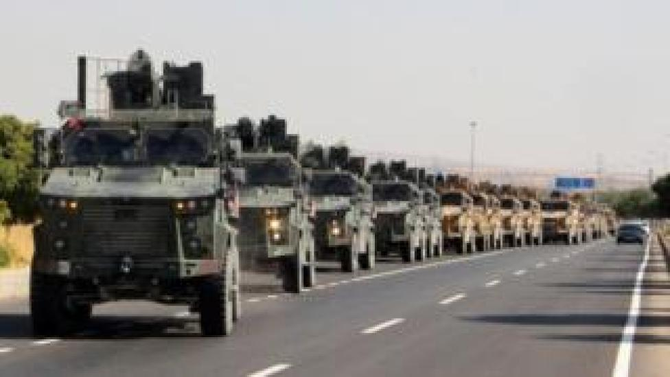 Turkish troops prepare for the offensive in northern Syria