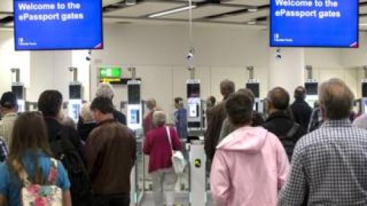ePassport gates at Gatwick Airport