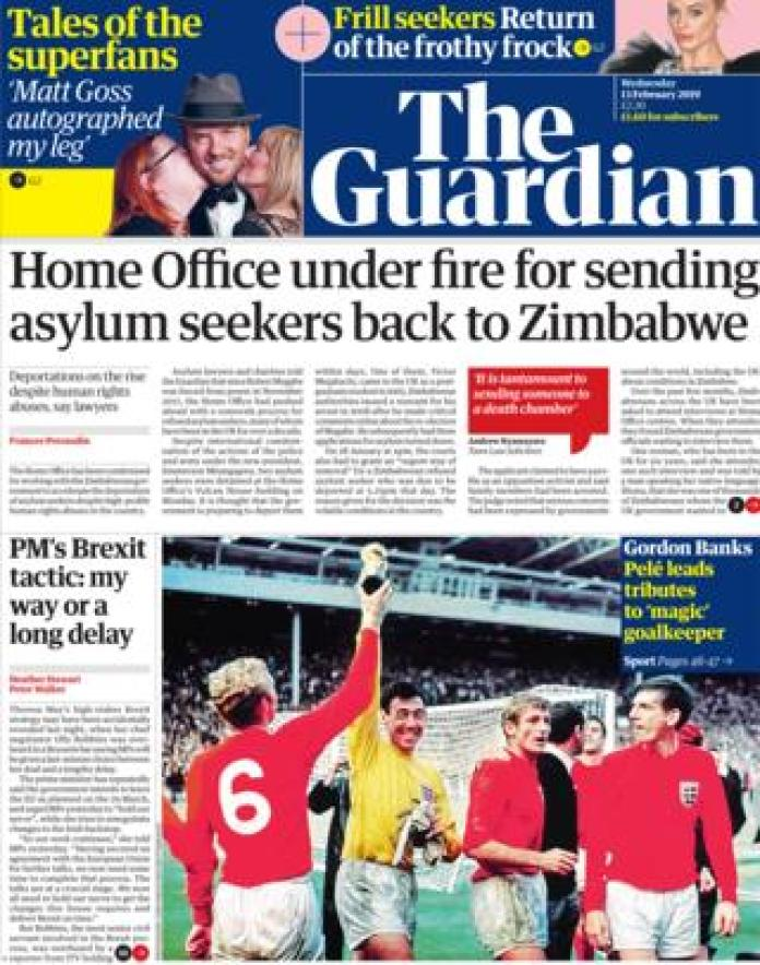 Guardian front page 12/02/19