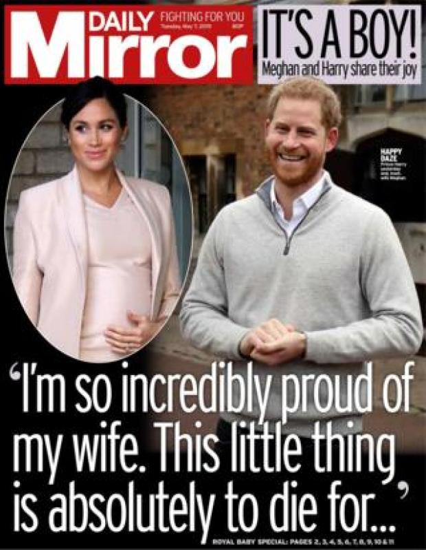 Daily Mirror front page 07/05/19