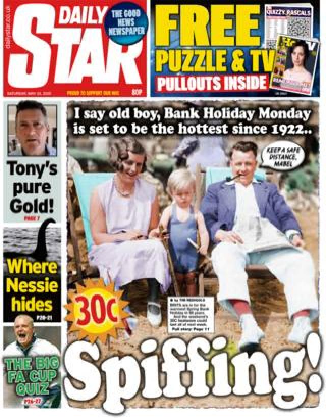 Daily Star front page 23 May