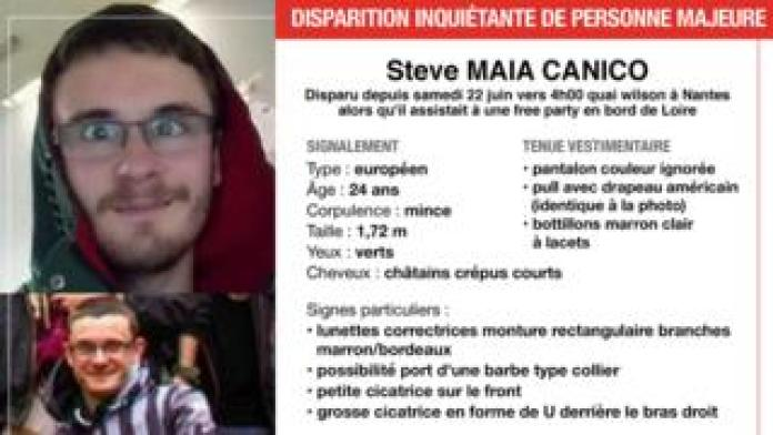 A police missing poster for 24-year-old Steve Maia Caniço