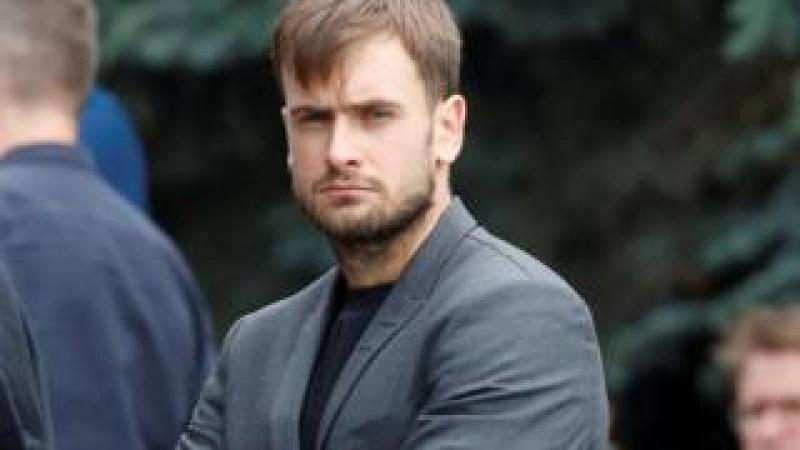 Pyotr Verzilov pictured at a funeral