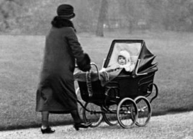 Princess Elizabeth in the park. 1 March 1929