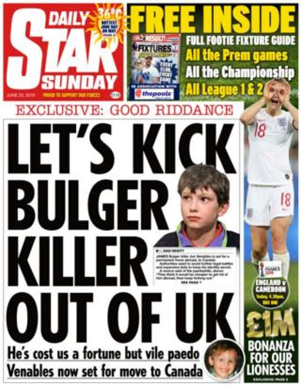 Daily Star front page 23.06.19