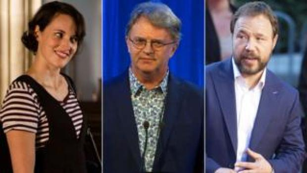 Phoebe Waller-Bridge, Paul Merton and Stephen Graham