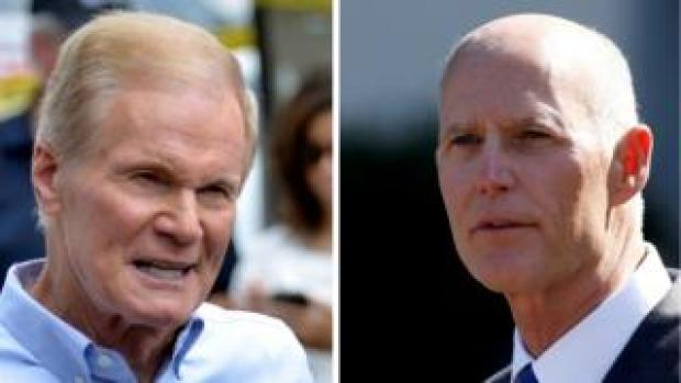 Composite image of Bill Nelson and Rick Scott