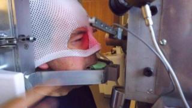 Rory Cellan-Jones prepares for proton beam therapy