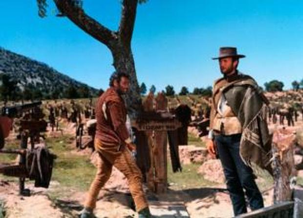 Scene from 1966 movie, The Good, the Bad and the Ugly