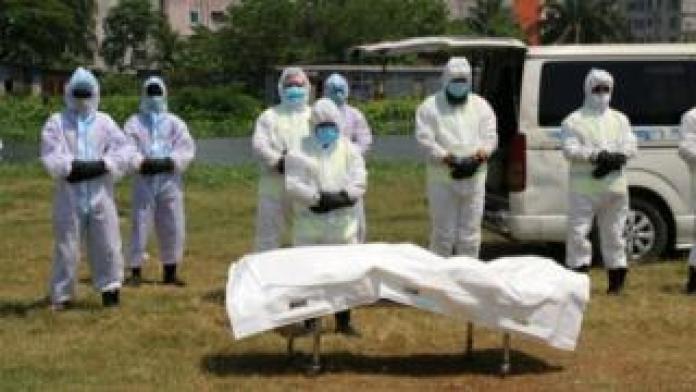 Corpse is deceased with corona virus