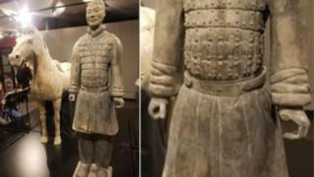 A Terracotta warrior missing a digit