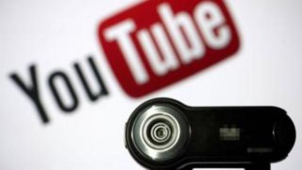 YouTube logo with video camera