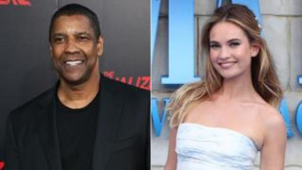 Denzel Washington and Lily James