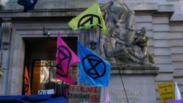 Extinction Rebellion flags
