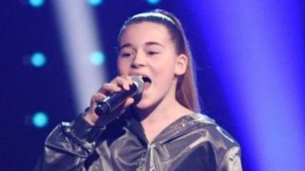 Mikella Abramova in The Voice Kids final