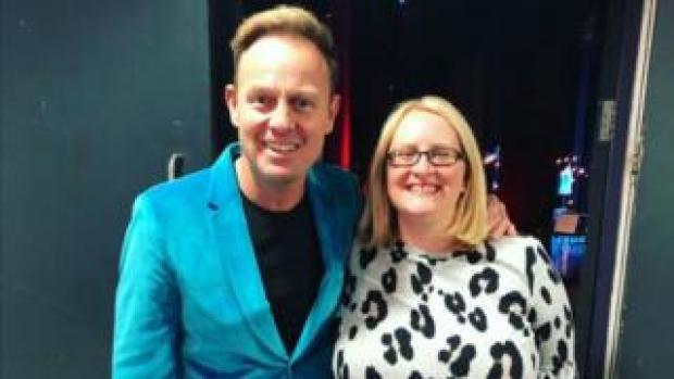 Helen Harris meeting Jason Donovan