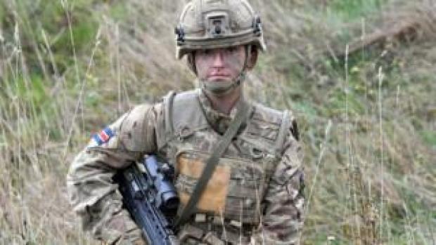 Royal Army Veterinary Corps Dog Handler Private Beth Johnson