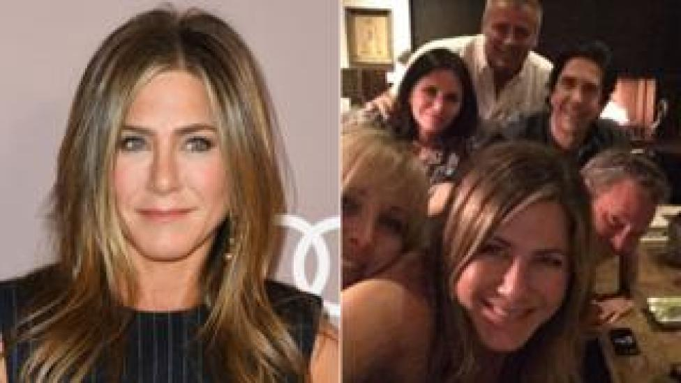 Jennifer Aniston with her Instagram selfie