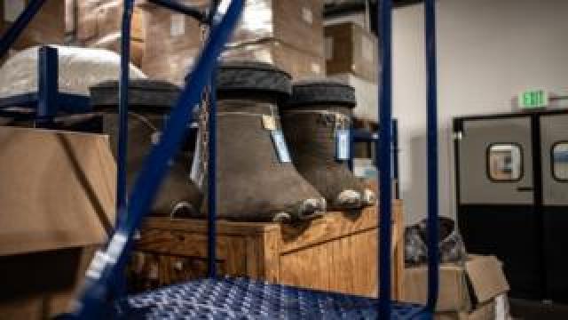 Three elephant foot stools