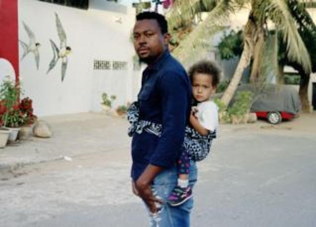 Scorpion and Africa in Mermoz, a residential neighbourhood of Dakar, Senegal