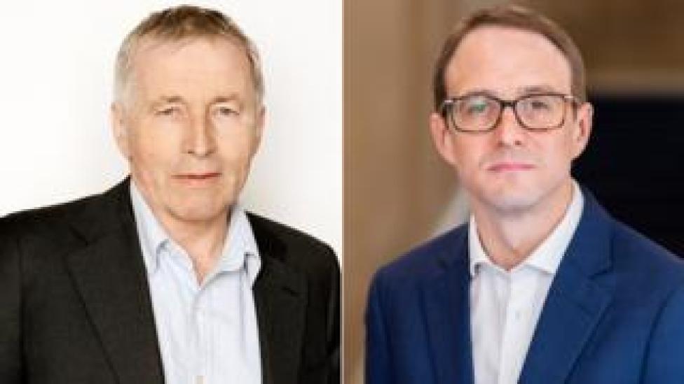 Jonathan Dimbleby and Chris Mason