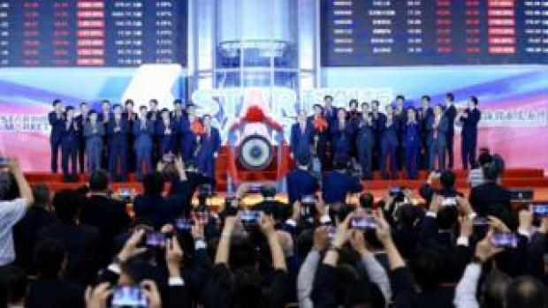 The launch of the SSE STAR Market in the hall of Shanghai Securities Exchange in Shanghai, China Monday, 22 July, 2019.
