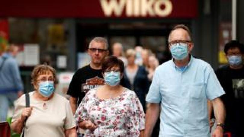 Shoppers wear masks in Basingstoke