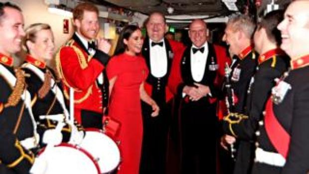 The Duke and Duchess of Sussex arrive to attend The Mountbatten Festival of Music at the Royal Albert Hall