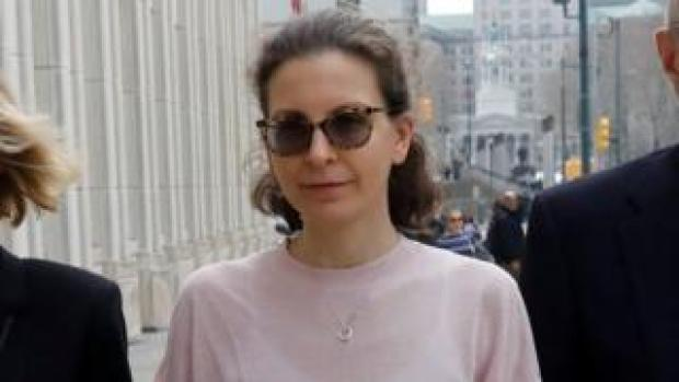 Clare Bronfman at plea hearing last year