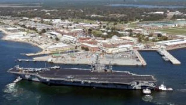 The US naval air base in Pensacola, US