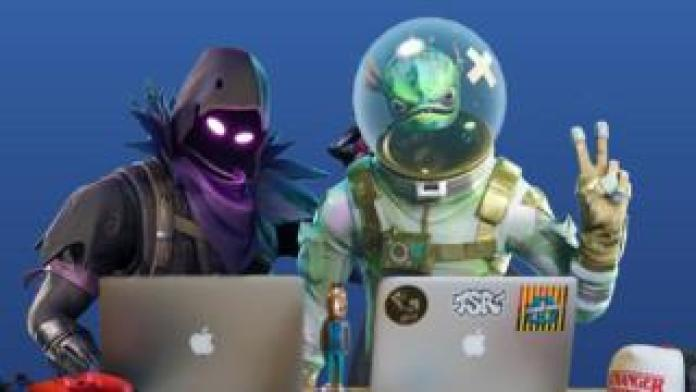 Fortnite characters on laptops