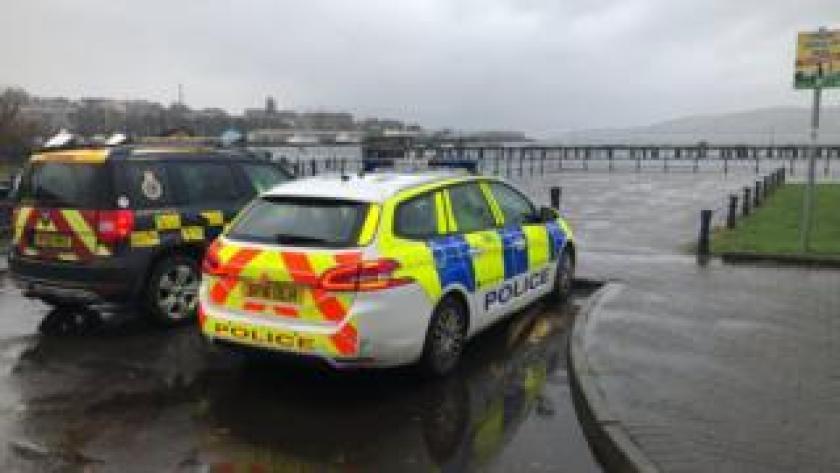 Coastguard and police