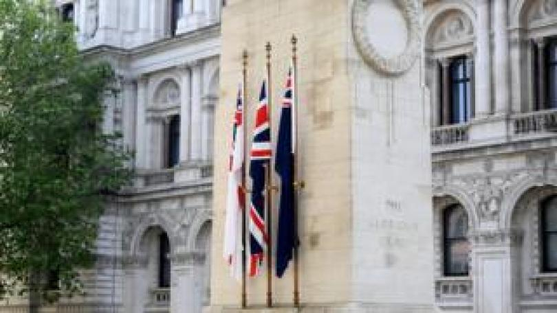 A view of the Cenotaph in London