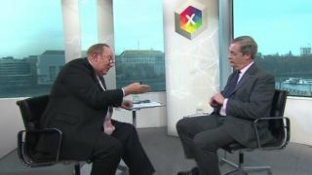 Andrew Neil interviewing Nigel Farage