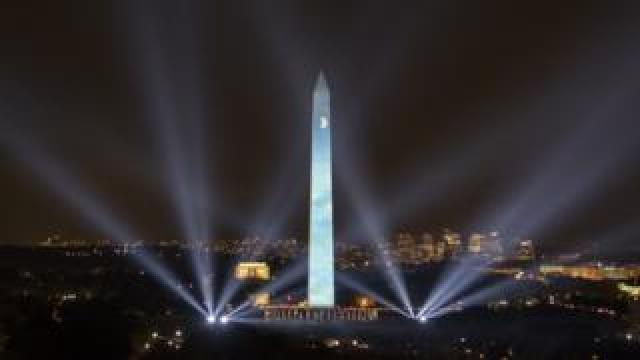 The 50 year anniversary of the Apollo 11 mission with NASA astronauts Neil Armstrong, Michael Collins, and Buzz Aldrin is celebrated in a 17-minute show, Apollo 50: Go for the Moon which combined full-motion projection-mapping artwork on the Washington Monument and archival footage to recreate the launch of Apollo 11