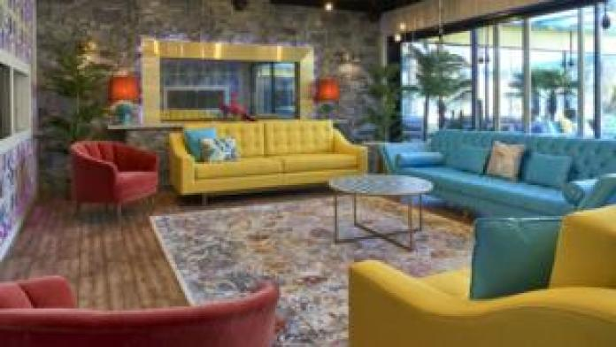 The lounge in the Celebrity Big Brother 2018 house