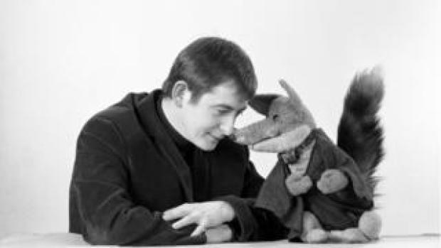 Derek Fowlds and Basil Brush