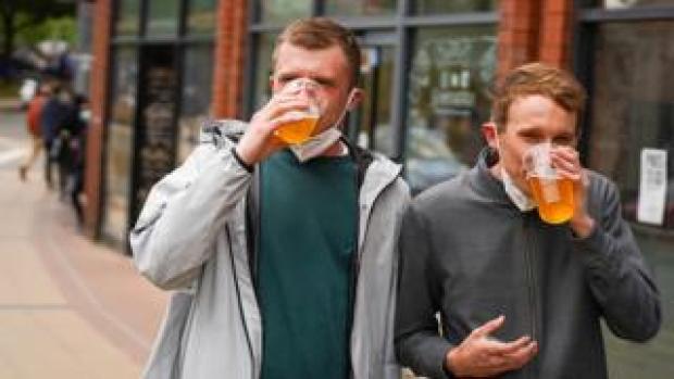 Drinkers in Sheffield