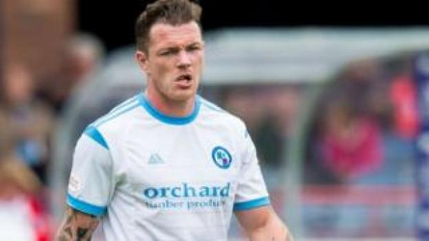 Forfar Athletic striker David Cox