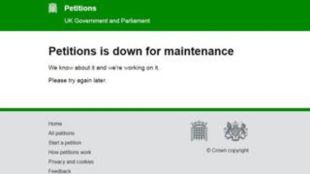 Petitions website