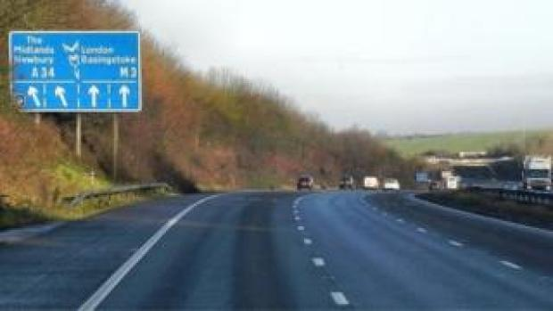 M3 at junction 9