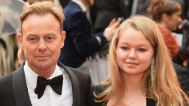 Jason and Jemma Donovan at the Olivier Awards
