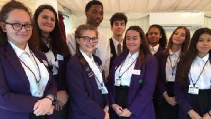 Students from Ricards Lodge High School