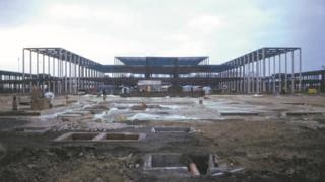 The centre being built