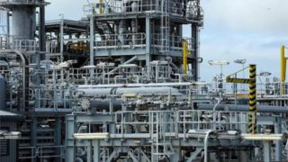 Shetland gas plant