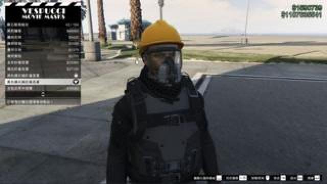 A player dressed as a Hong Kong protester on GTA V.
