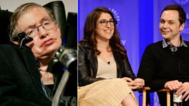Stephen Hawking, Mayim Bialik and Jim Parsons