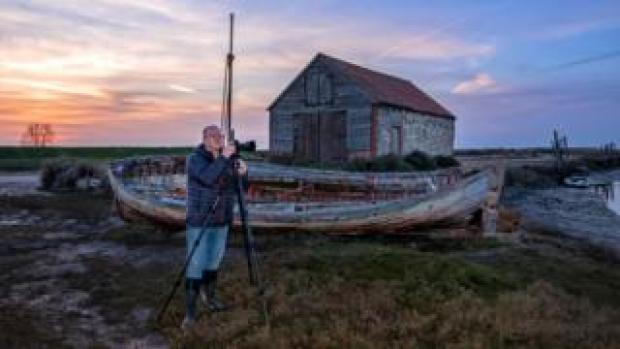 Self-portrait of Norfolk photographer Gary Pearson at Thornham Staithe